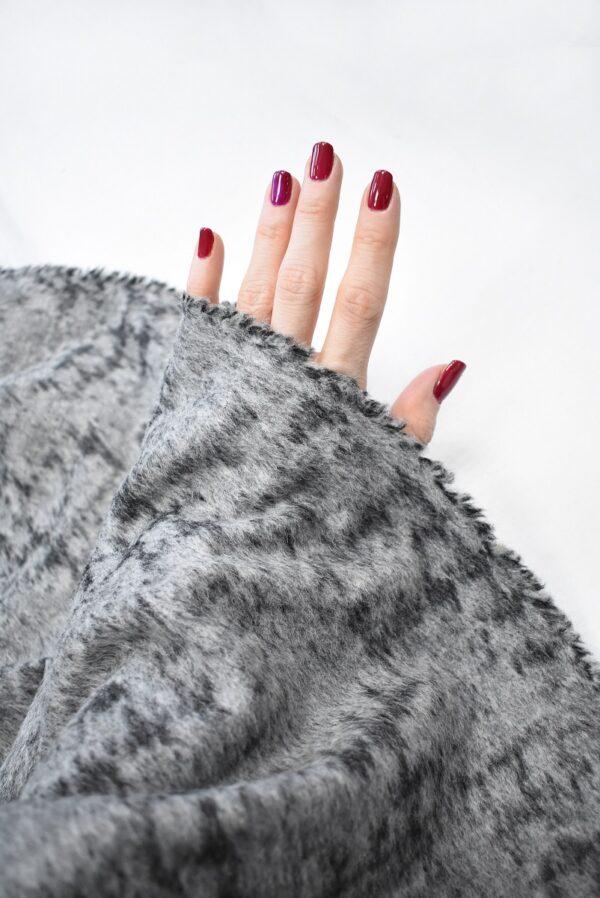 Пальтовая шерсть с ворсом серый меланж (7726) - Фото 11