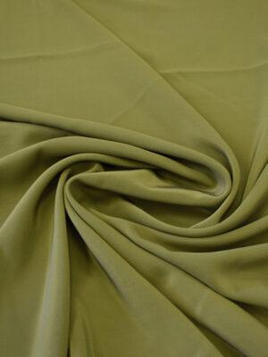 Крепдешин шелк оливковый оттенок (7770) - Фото 14