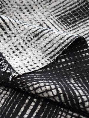 Джерси в черно-белую клетку (7808) - Фото 15