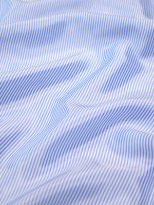 Подкладочная вискоза в голубую полоску (7897) - Фото 16