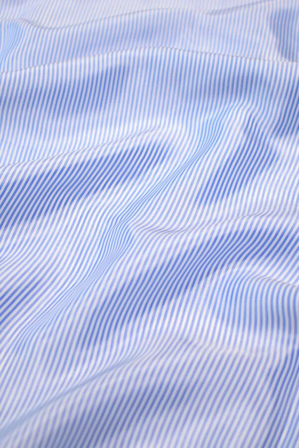 Подкладочная вискоза в голубую полоску (7897) - Фото 6