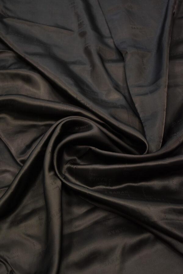 Подклад вискоза коричневый с надписями (7902) - Фото 9