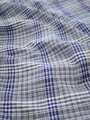 Хлопок марлевка в синюю с серым клетку (7924) - Фото 15