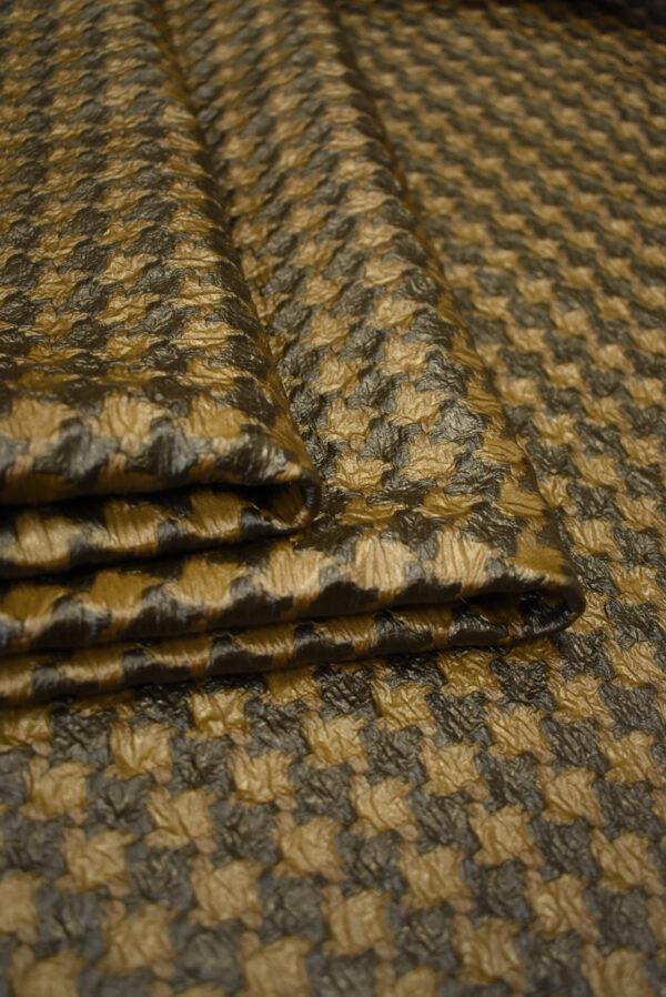 Твид коричневый с кремовым имитация кожи (7928) - Фото 8