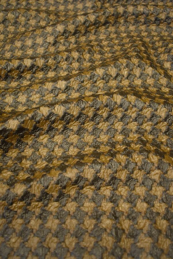 Твид коричневый с кремовым имитация кожи (7928) - Фото 6