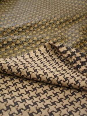 Твид коричневый с кремовым имитация кожи (7928) - Фото 18