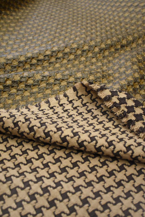 Твид коричневый с кремовым имитация кожи (7928) - Фото 7