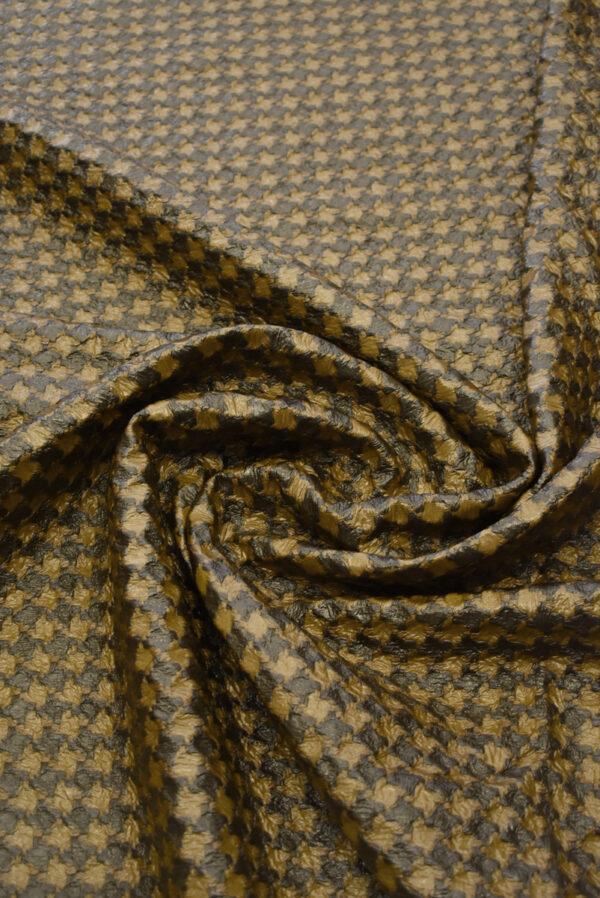 Твид коричневый с кремовым имитация кожи (7928) - Фото 9
