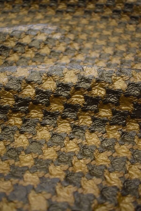 Твид коричневый с кремовым имитация кожи (7928) - Фото 10