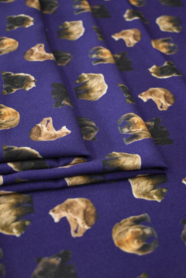 Креп фиолетовый с медведями (7939) - Фото 9