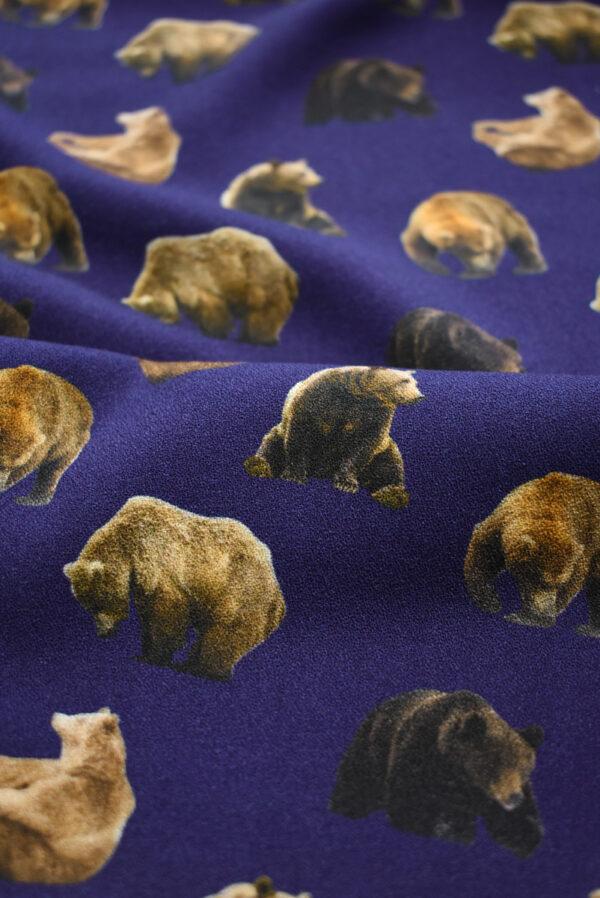 Креп фиолетовый с медведями (7939) - Фото 10