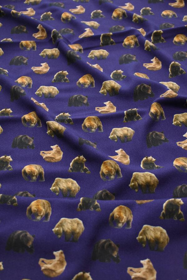Креп фиолетовый с медведями (7939) - Фото 6