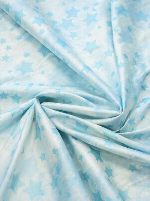 Тафта шелк голубые звезды на белом (7948) - Фото 15