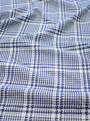 Твид белый в синюю клетку (7954) - Фото 13