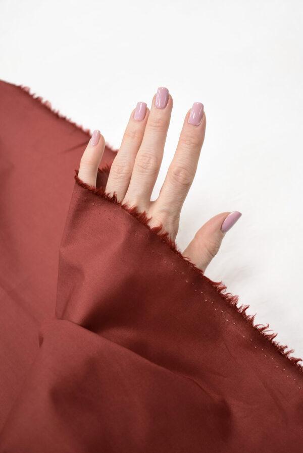Хлопок стрейч рубашечный бордо (7967) - Фото 10