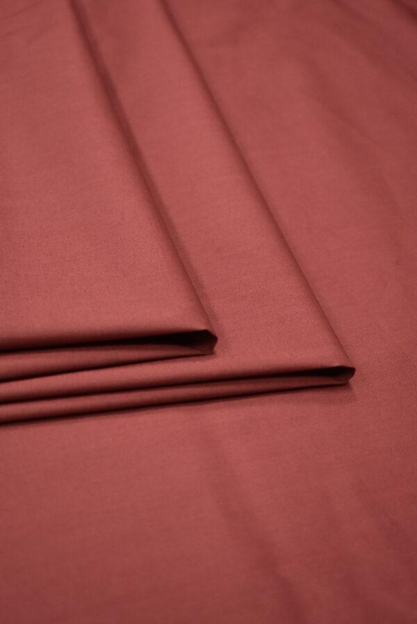 Хлопок стрейч рубашечный бордо (7967) - Фото 8