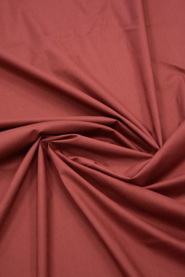 Хлопок стрейч рубашечный бордо (7967) - Фото 7