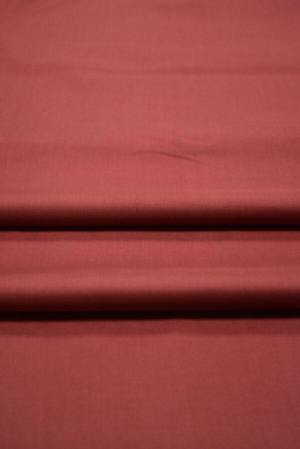 Хлопок стрейч рубашечный бордо (7967) - Фото 9
