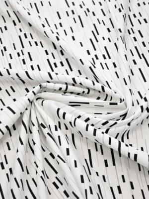 Рогожка белая в черный прямоугольник (7972) - Фото 14