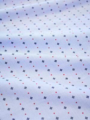 Хлопок в голубую полоску мелкий горошек и крестик (7973) - Фото 12