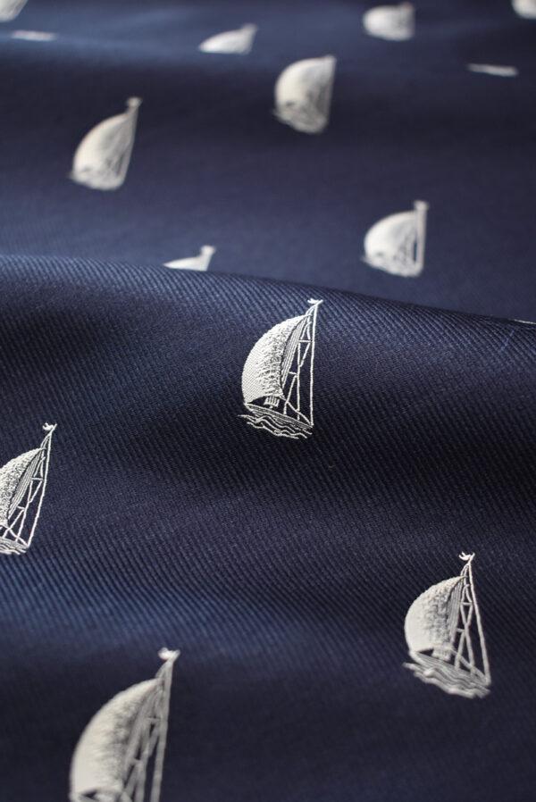 Жаккард синий с корабликами (8018) - Фото 10
