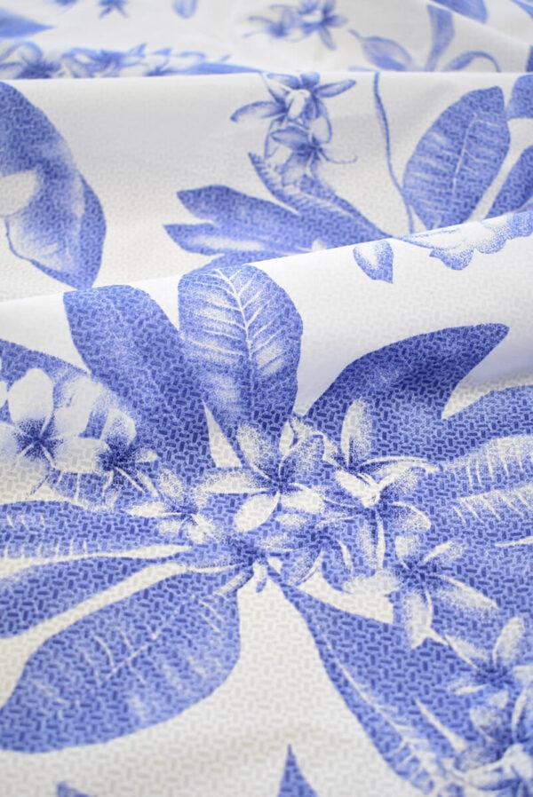 Хлопок белый с синими цветами (8065) - Фото 10