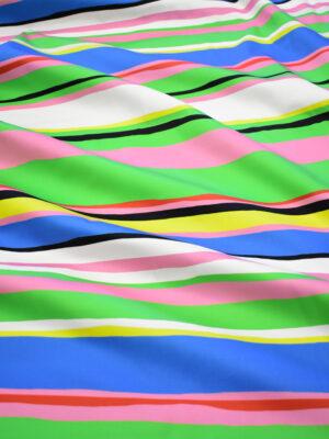Сатин стрейч в разноцветную полоску (8081) - Фото 11
