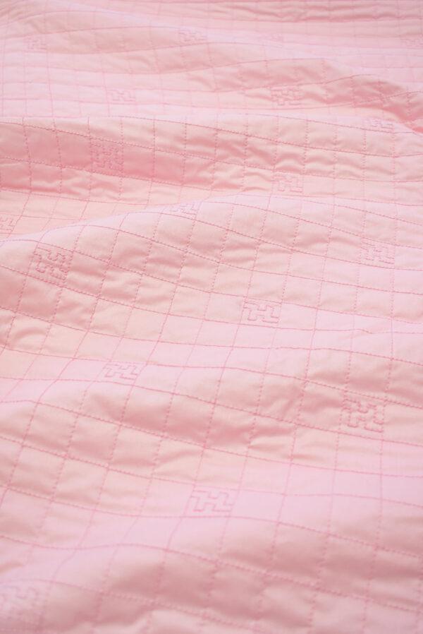 Курточная стеганая ткань нежно-розовая с синтепоном (8106) - Фото 6