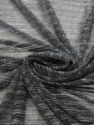 Трикотаж плиссе графитовый оттенок с люрексом (8149) - Фото 10