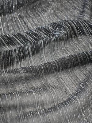 Трикотаж плиссе графитовый оттенок с люрексом (8149) - Фото 9