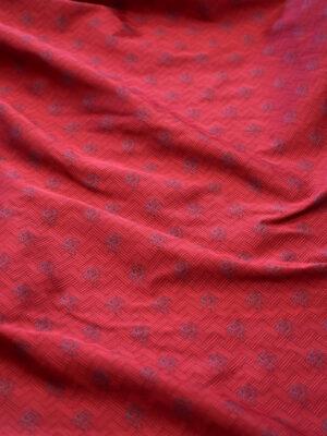 Жаккард вишневого оттенка с драконами (8157) - Фото 14