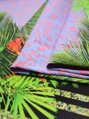 Тафта купон красные попугаи тропики (8166) - Фото 14