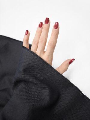 Рогожка летняя черная (8189) - Фото 10