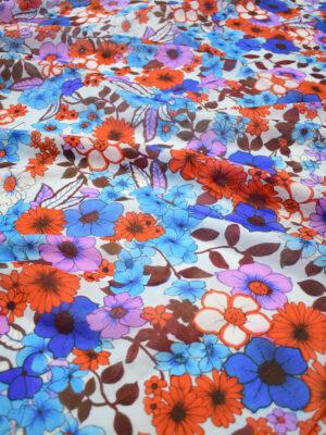 Батист с красными и синими цветами (8300) - Фото 7