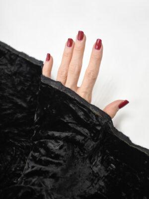 Бархат черный жатый шелковый (8684) - Фото 13