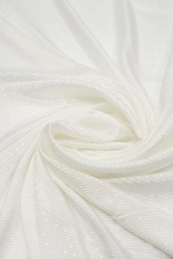 Подклад белый в полоску с мелкими звездочками (8735) - Фото 7