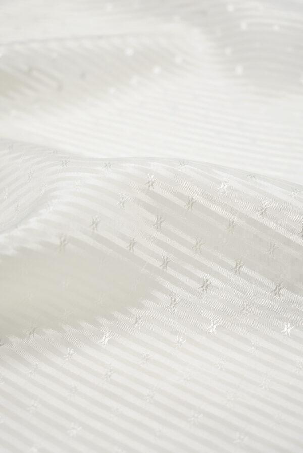 Подклад белый в полоску с мелкими звездочками (8735) - Фото 9