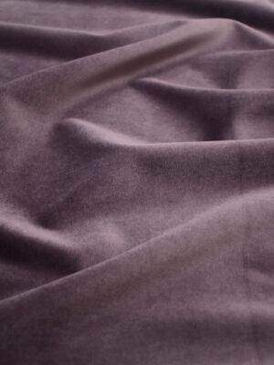 Бархат стрейч хлопковый лиловый (8763) - Фото 9