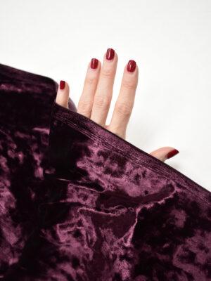 Бархат стрейч бордовый оттенок maroon (8773) - Фото 13