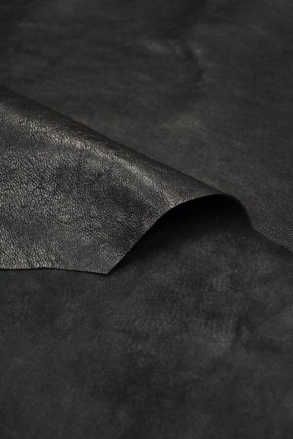 Кожа натуральная телячья черная (8939) - Фото 8