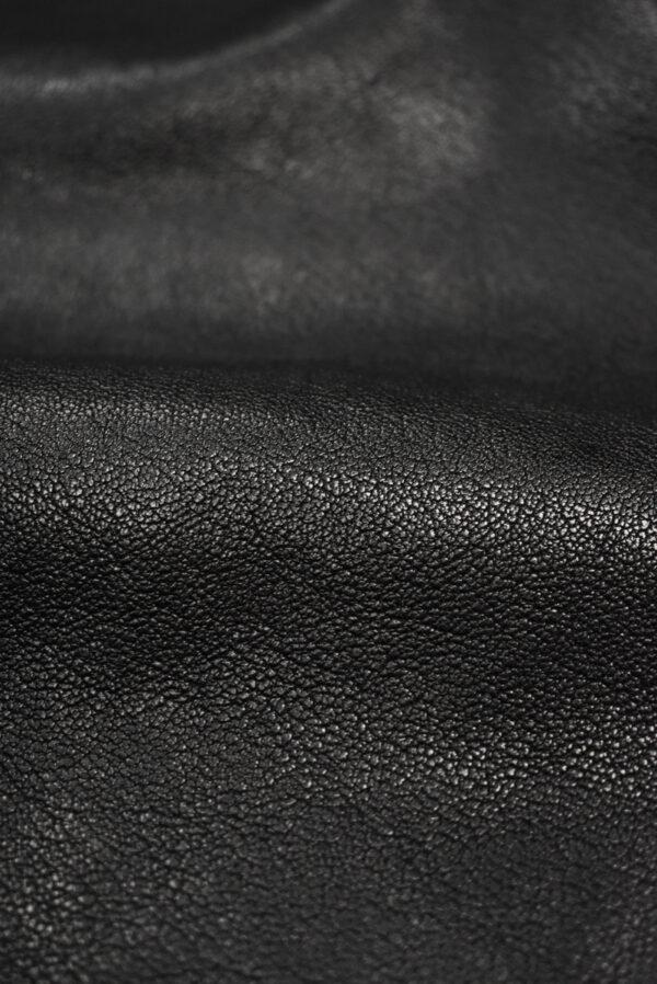 Кожа натуральная телячья черная (8939) - Фото 9