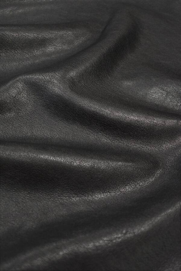 Кожа натуральная телячья черная (8939) - Фото 6
