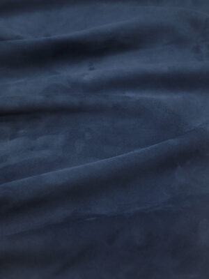 Замша натуральная овечья темно-синяя (8945) - Фото 16