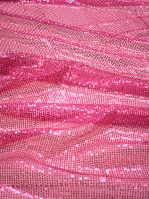 Пайетки розовые на мягкой сетке (8984) - Фото 13