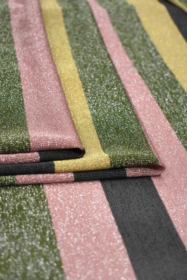 Трикотаж в разноцветную полоску с люрексом (9023) - Фото 8