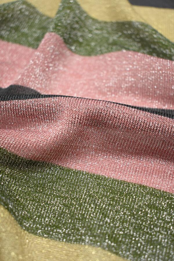 Трикотаж в разноцветную полоску с люрексом (9023) - Фото 9
