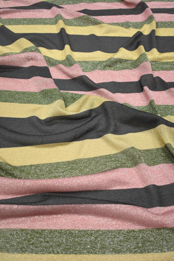 Трикотаж в разноцветную полоску с люрексом (9023) - Фото 6