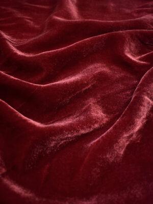 Бархат вискозный бордовый (9036) - Фото 11