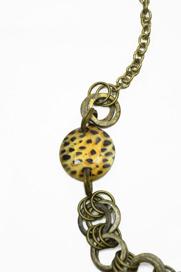 Ожерелье бронзовое с цепью и крупными кольцами 1