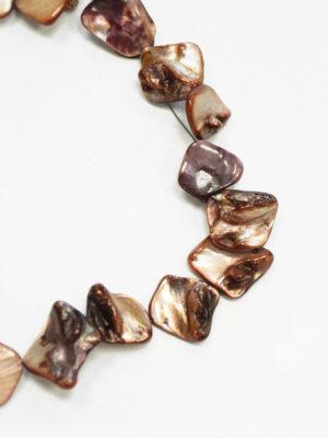 Бусы с коричневыми камнями на леске 1